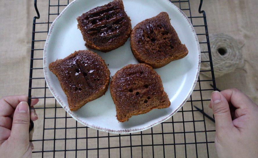 Chocolate Honey Castella ในสไตล์เหมียว ๆ